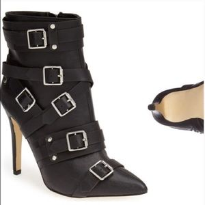 Kendall & Kylie Madden buckle Pantha black boot